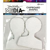Dina Wakley - Chipboard Shapes - Passport Photos